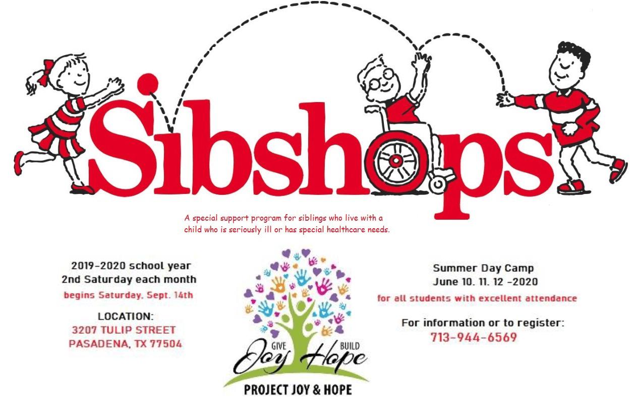 Sibshops Dates 2019 thru 2020